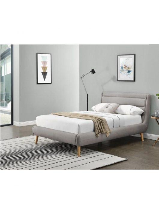 Elanda Ágy 140 cm Világosszürke-Natúr