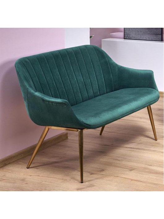 Elegance 2 XL kanapé sötétzöld