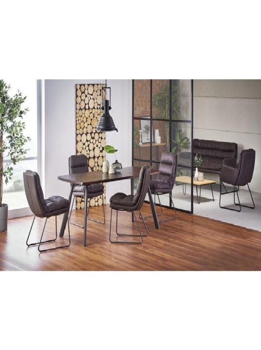 Firmino Étkezőasztal sötét dió/grafit 180x76cm - Fa étkezőasztalok webáruház
