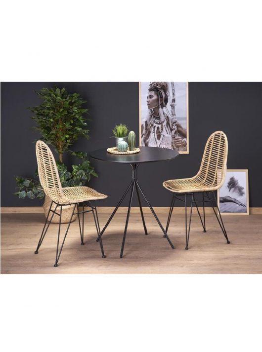 Fondi Étkezőasztal matt fekete 80x75cm - Fa étkezőasztalok webáruház