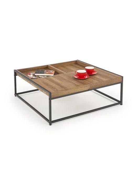 FREGATA mézes dió/fekete dohányzóasztal - Fa és Műanyag dohányzóasztalok webáruház