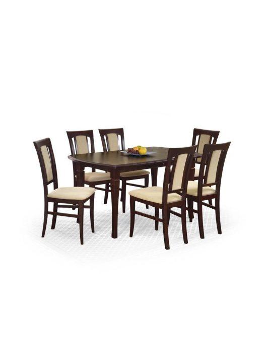 Fryderyk Étkezőasztal 160/240cm MDF Sötét dió