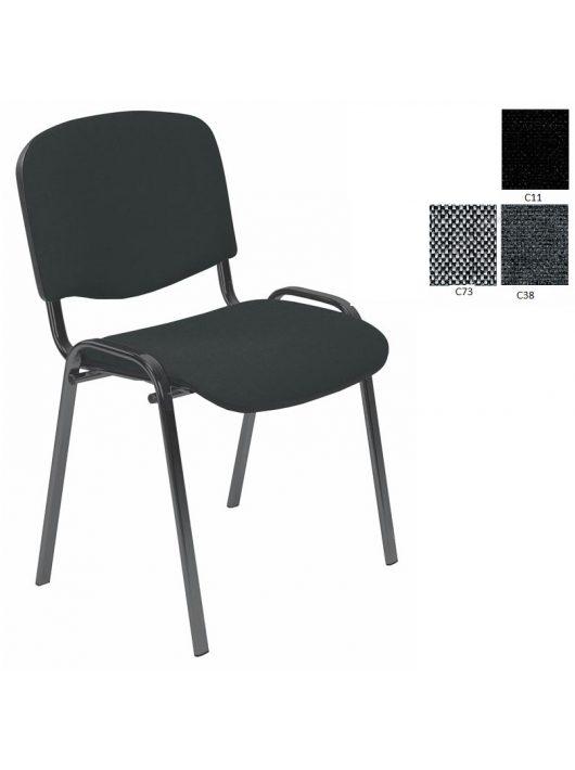 ISO irodai szék szövet ülőfelülettel és por szórt acél vázzal.