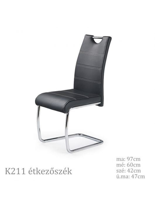 K211 szánkótalpas étkezőszék