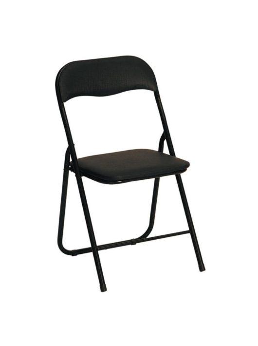 K5 Összecsukható szék Fekete - Fém étkezőszékek webáruház