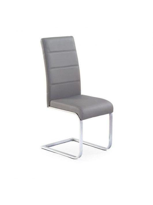 K85 Szánkótalpas szék Szürke- Fém étkezőszékek webáruház