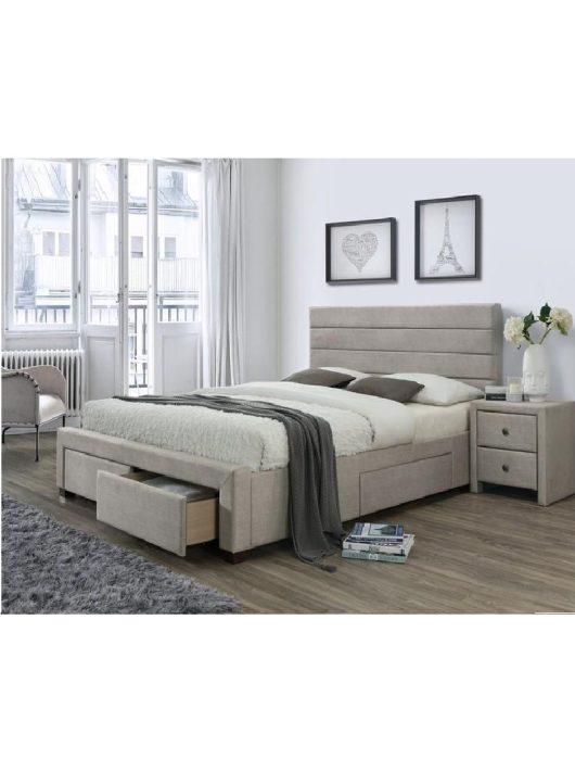 Kayleon Fiókos Ágy 160 cm Bézs-Dió