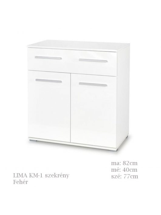 LIMA KM-1 komód fehér színben