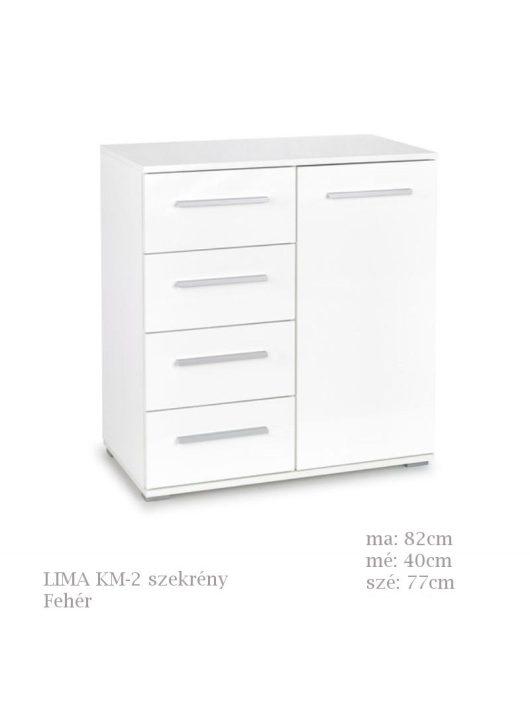 LIMA KM-2 komód fehér színben