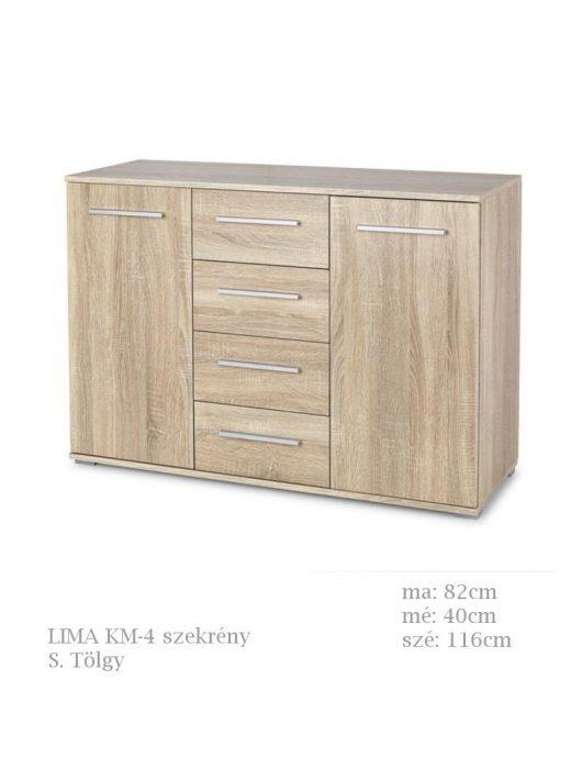 LIMA KM-4 komód Sonoma Tölgy natúr színben