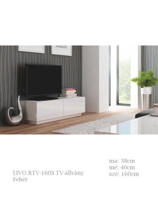 LIVO RTV-160S TV-állvány fehér színben