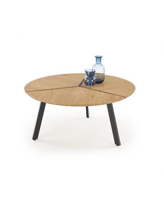 LUANA arany tölgy/fekete dohányzóasztal - Fa és Műanyag dohányzóasztalok webáruház