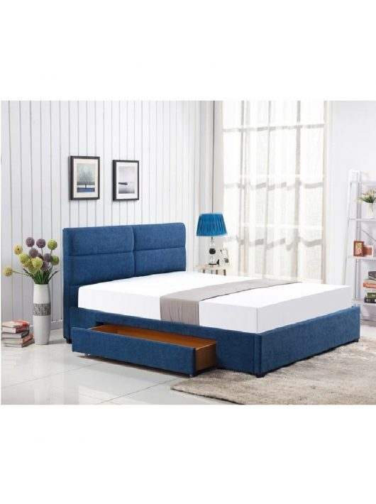 Merida Fiókos Ágy 160 cm Kék-Natúr