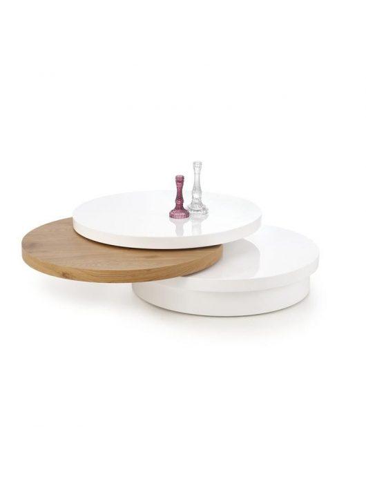 Michelle Dohányzóasztal Fehér-Arany Tölgy