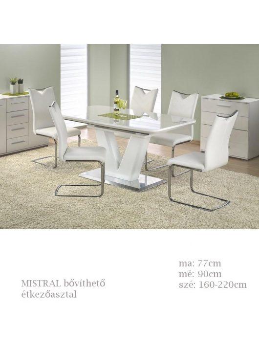 Mistral bővíthető étkezőasztal fehér színű