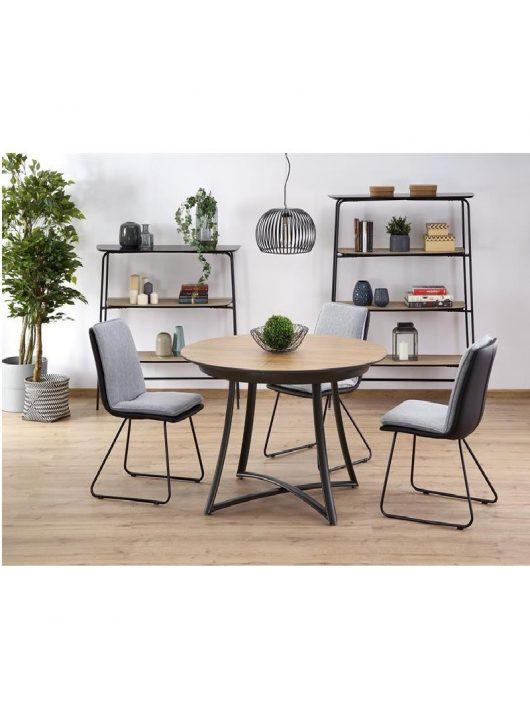 Moretti Kihúzható Étkezőasztal arany/fekete/antracit 118-148x76cm - Fa étkezőasztalok webáruház