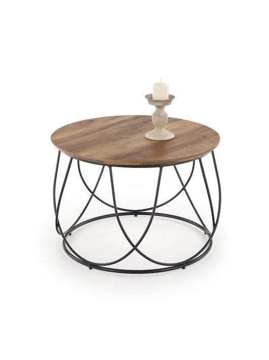 NUBIRA dió/fekete dohányzóasztal - Fa és Műanyag dohányzóasztalok webáruház