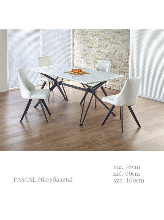 Pascal étkezőasztal fehér-fekete színben