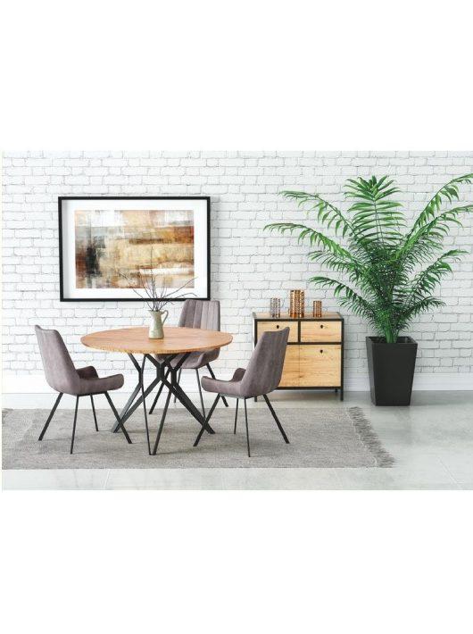 Pixel 2 Étkezőasztal arany tölgy/fekete 120x76cm - Fa étkezőasztalok webáruház