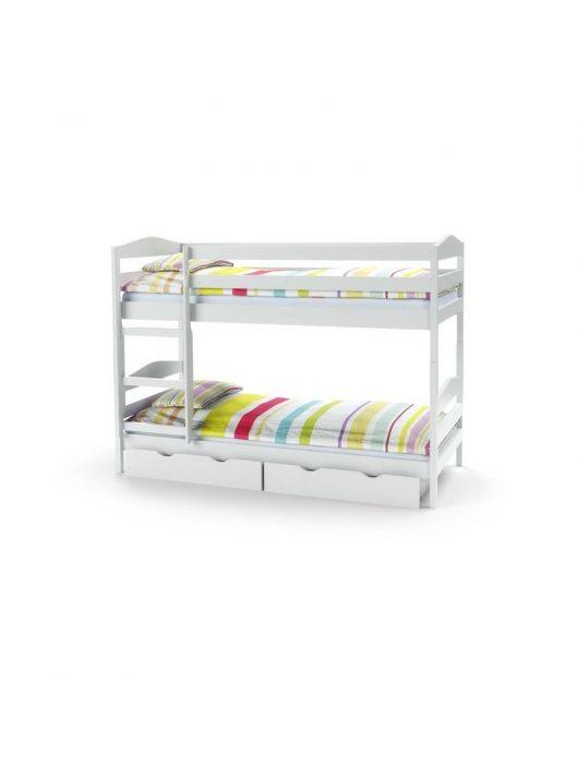 Sam emeletes ágy fehér - Ifjúsági- és gyerekszoba bútorok webáruház