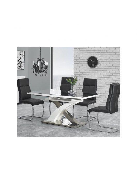 Sandor 2 Bővíthető Étkezőasztal 160-200x90x76cm fekete