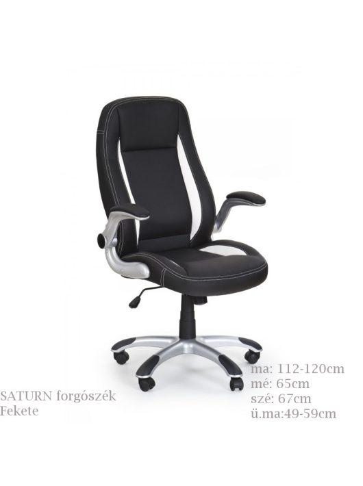 SATURN állítható karfás, magas háttámlás, ergonomikusan kialakított főnöki forgószék.