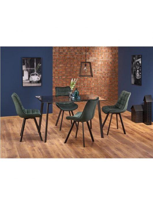 Trax Étkezőasztal fekete 140x75cm - Fa étkezőasztalok webáruház