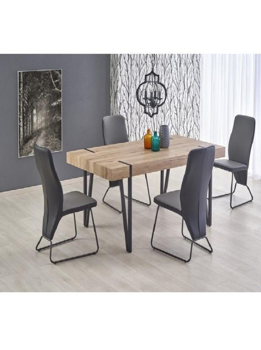 Yohann Asztal 170 cm San Remo - Fekete